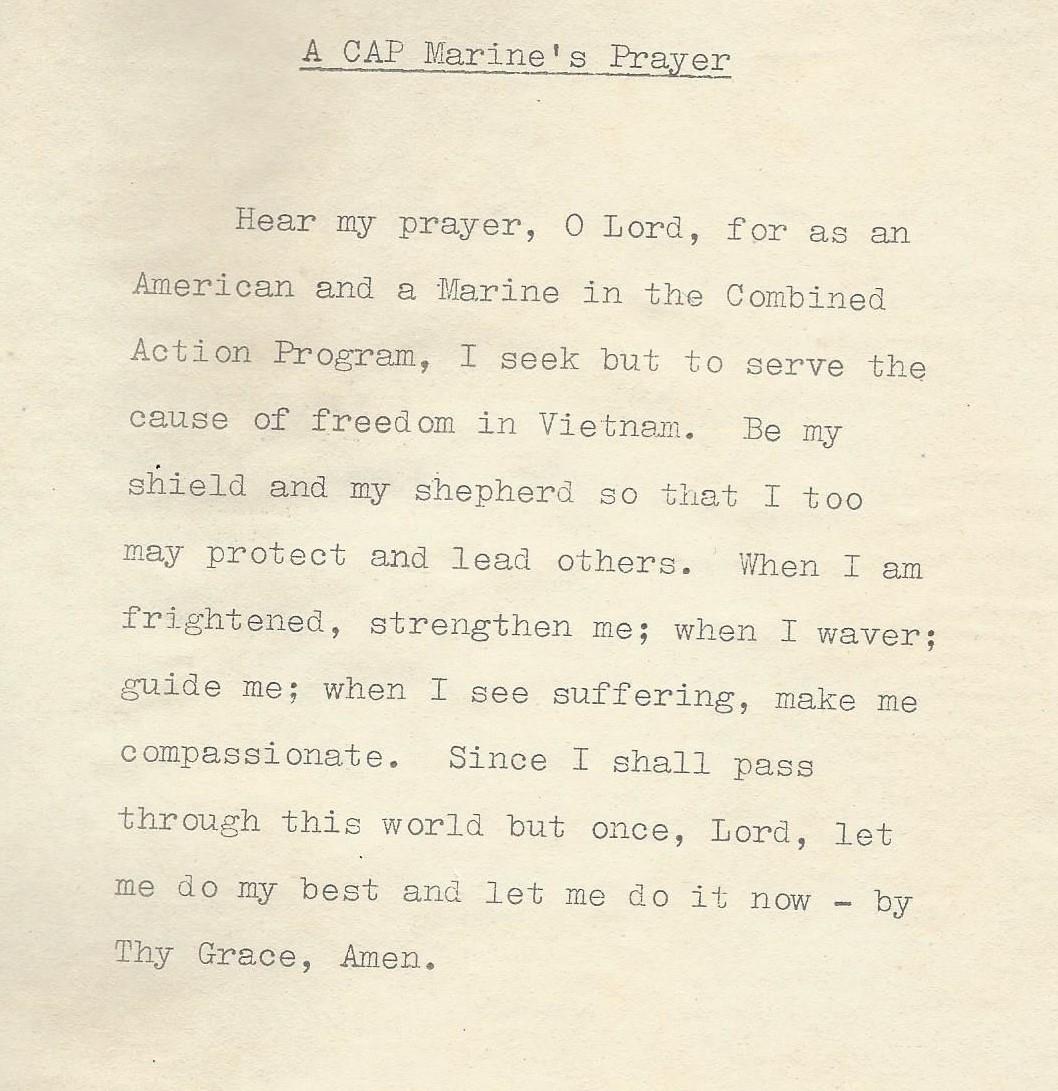CAP Marine Prayer